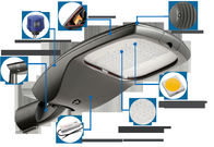 Road Security Energy Saving Street Lights 140Lm/W Super High Efficiency IP66