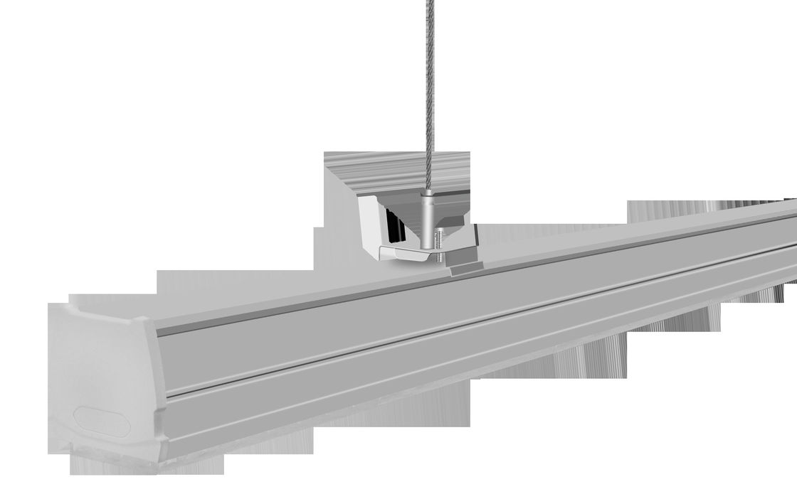 Supermarket Suspended Linear LED Fixture 50W 130Lm/W No Toxic Metals Case